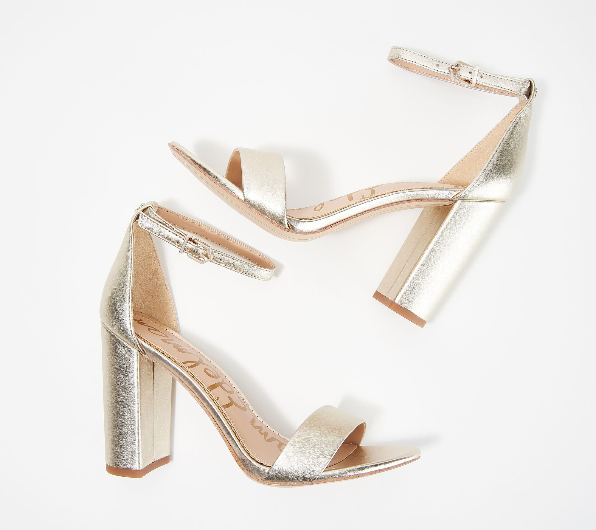 3c4c2ad8c71 Sam Edelman Classic Two-Piece Heeled Sandals - Yaro — QVC.com