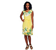 Isaac Mizrahi Live! Sleeveless Floral Printed Knit Dress - A254814