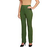 Liz Claiborne New York Reg. Straight Leg Ponte Knit Pants - A255514