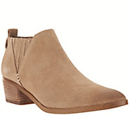 Marc Fisher Suede Ankle Boots w/ Stacked Heel - Wilde - A279914
