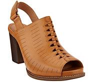 Clarks Artisan Leather Block Heel Sandals - Briatta Key - A291714