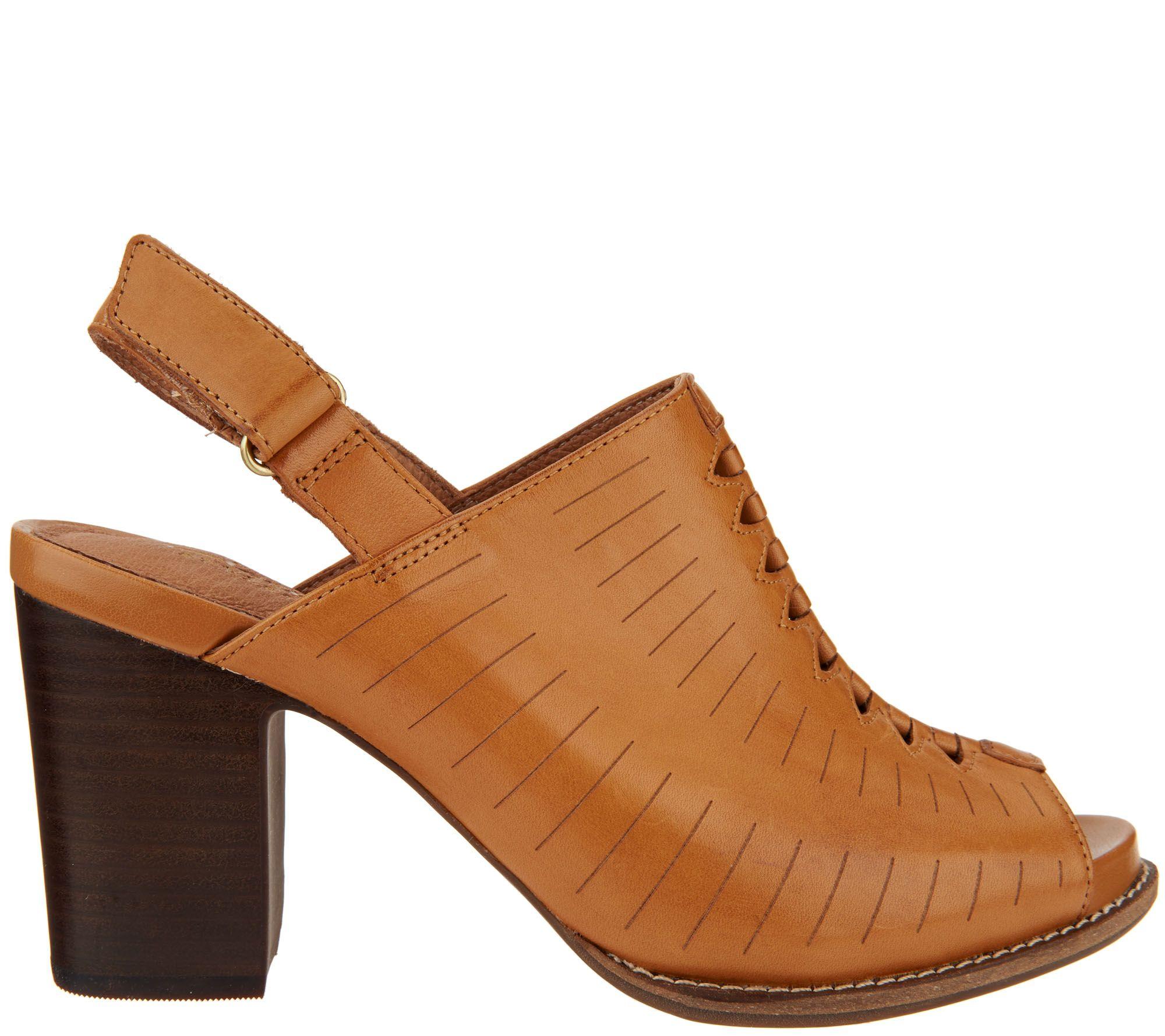 b55685d029e Clarks Artisan Leather Block Heel Sandals - Briatta Key - Page 1 — QVC.com