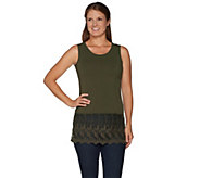 Kathleen Kirkwood Layering Tank with Scallop Lace Extender - A296314