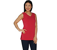 Every Day by Susan Graver Liquid Knit Reversible Neckline Tunic - A300514