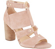 Sole Society Cut-out Heeled Sandals - Sadey - A305014