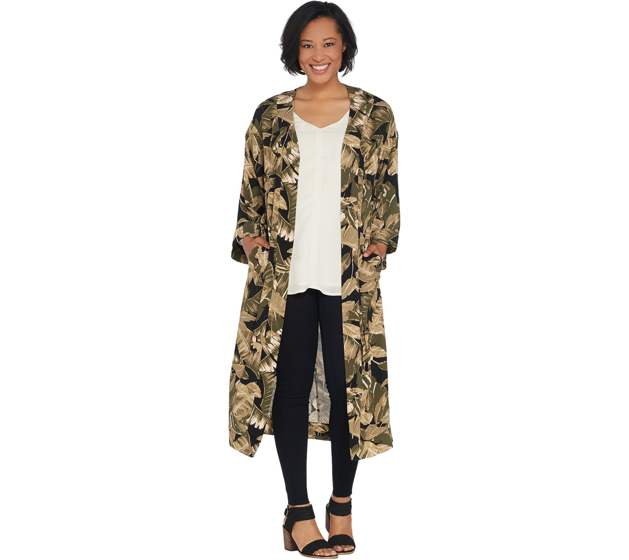 7b6c76523ccbd G.I.L.I. Regular Kimono Duster - Page 1 — QVC.com