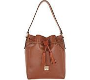 Dooney & Bourke Smooth Leather Drawstring Bucket - Keeghan - A346514