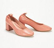 Taryn Rose Leather or Suede Block Heel Pumps - Savannah - A347414