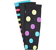Comfortiva Graduated Compression Socks - 3-Pair Pack - A359814