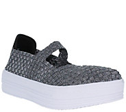 Heal Platform Slip-On Mary Jane Sneakers - French - A364914