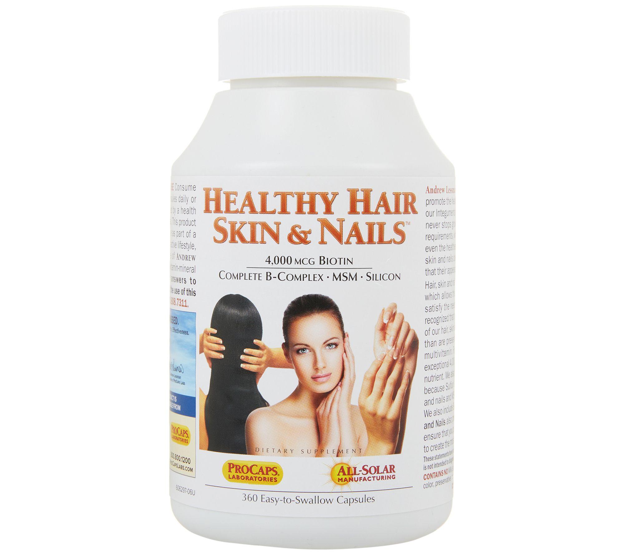 Andrew Lessman Healthy Hair Skin Nails 360 Capsules Qvc Com