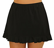 Fit 4 Ur Hips Solid Skirt with Flounce - Plus - A412114