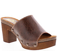 Sbicca Leather Slide Mule Sandals - Arianne - A414214
