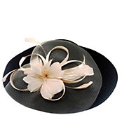 San Diego Hat Co. Lightweight Dressy Hat with Satin & Feathers - A414714