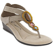 MIA Amore Beaded Wedge Sandals - Baylee - A426514