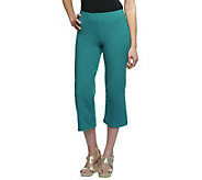 Women with Control Pull-on Knit Crop Pants - A200215