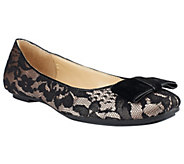 Isaac Mizrahi Live! Ballet Flats with Bow - A236315