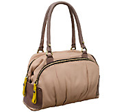 As Is orYANY Tina Soft Pebbled Leather Satchel - A265515