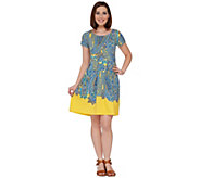 Isaac Mizrahi Live! Engineered Printed Paisley Dress - A274615