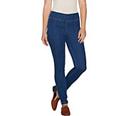 LOGO by Lori Goldstein Regular Stretch Denim Skinny Jeans - A281115