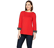 Susan Graver Weekend Stretch Cotton Modal Pullover - A286715