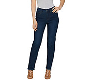 Women with Control Regular My Wonder Denim Frayed Ankle Jeans - A289015