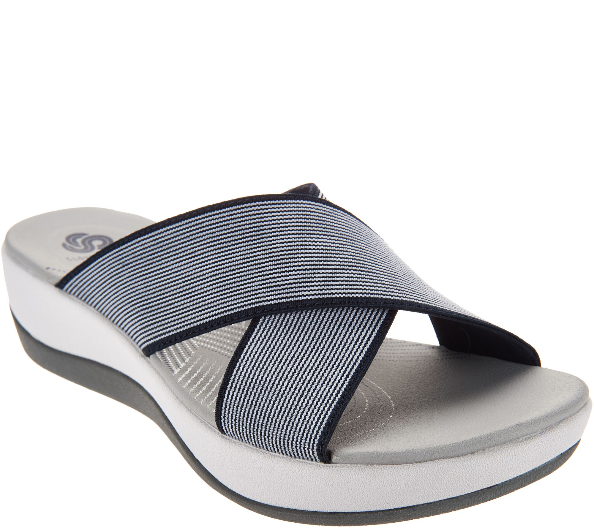 cf68adcaaa56 CLOUDSTEPPERS by Clarks Cross Band Slide Sandals - Arla Elin - Page 1 —  QVC.com