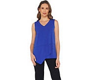 Susan Graver Liquid Knit Sleeveless Tiered Top - A303315