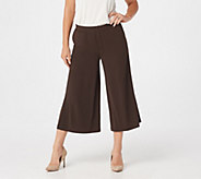 Every Day by Susan Graver Liquid Knit Pull-On Culotte Pants - A310115