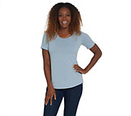 Elizabeth & Clarke Stain-Repellent Scoop-Neck Knit T-Shirt - A310415