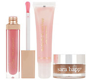 Sara Happ Vanilla Lip Scrub with Lip Slip and Pink Slip Gloss - A345615