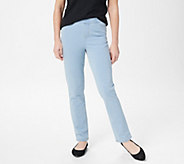 Denim & Co. Comfy Knit Straight Leg Jeans with Pockets - A349215