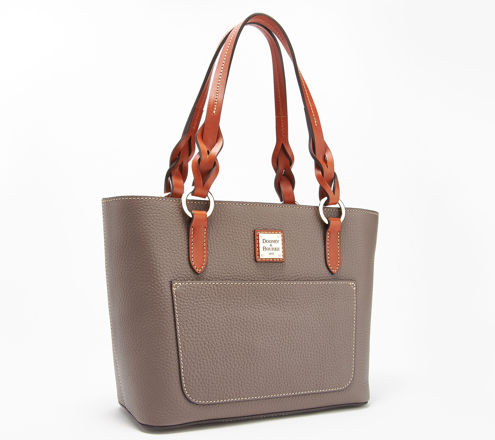 6e95c2378 Dooney & Bourke Pebble Leather Small Tammy Tote - Page 1 — QVC.com