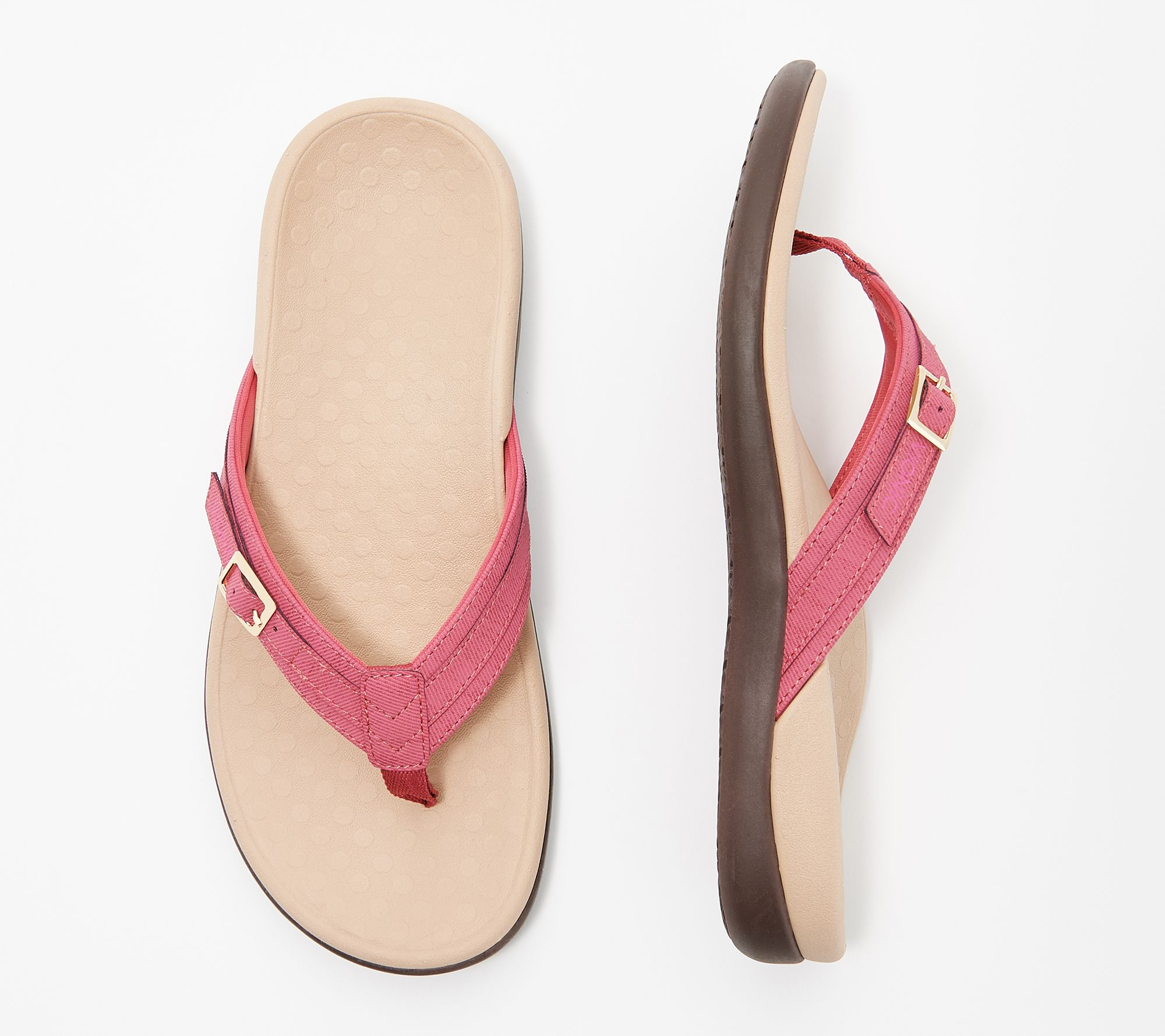 pretty cheap stable quality new list Vionic Thong Sandals with Buckle Detail - Tide Patty - Page 1 ...