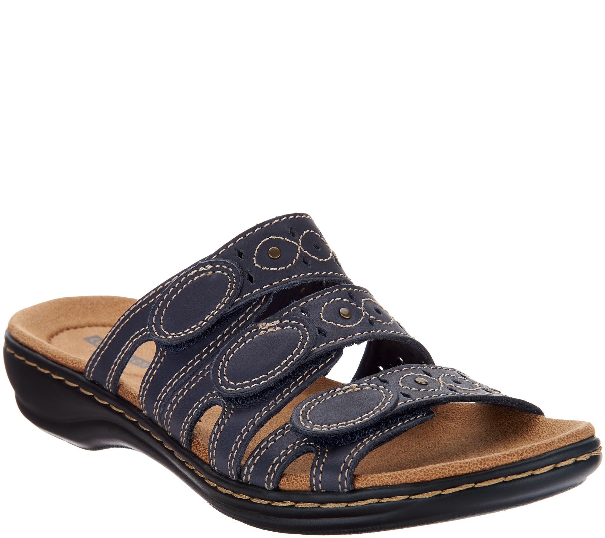 Clarks Leisa Lakia SAGE LEATHER Women's Sandal SIZE 8.5 NARROW