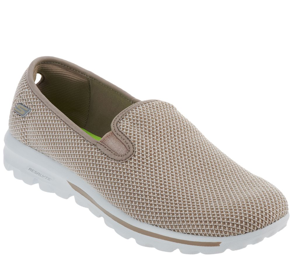 7769fd35824a Skechers GOwalk Slip-on Mesh Sneakers - Dazzle - Page 1 — QVC.com