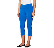 As Is Denim & Co. Active Duo-Stretch Capri with Pintucks - A271416