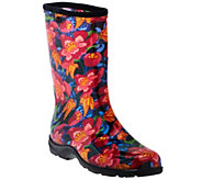 Sloggers Butterfly & Floral Garden Boots with Comfort Insoles - A274216