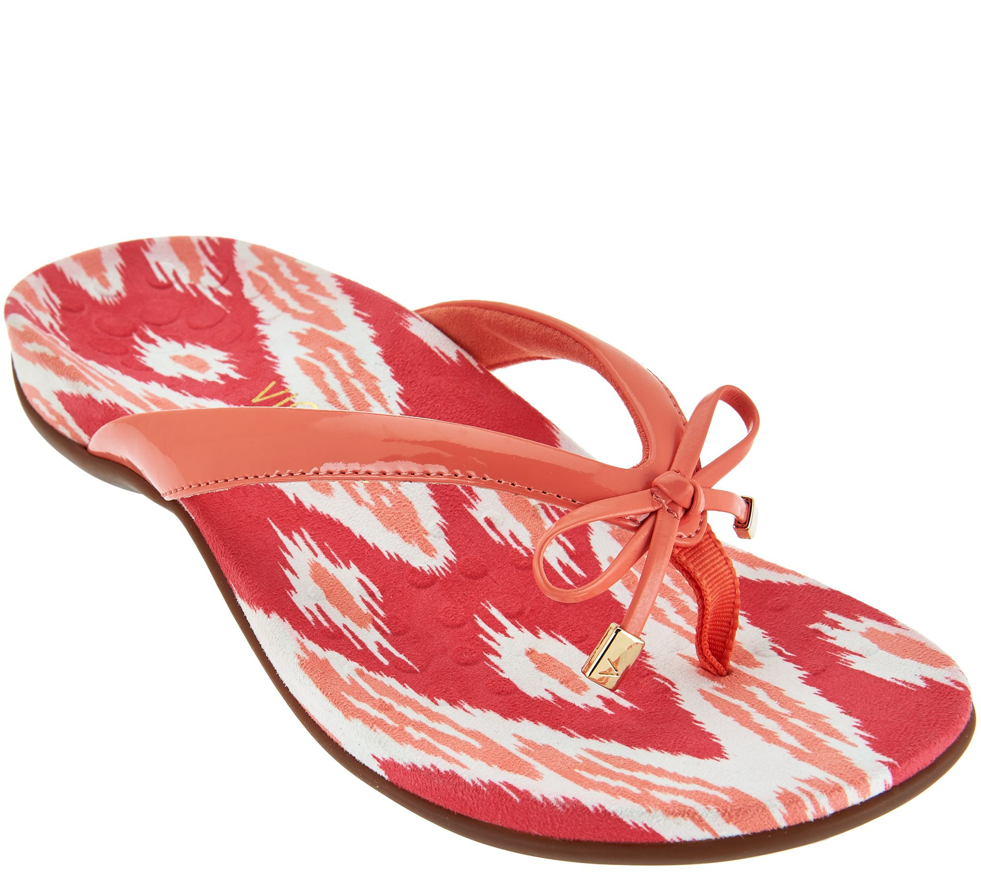 664043a7bc1a Vionic Orthotic Thong Sandals with Bow Detail - Bella Ikat - Page 1 .