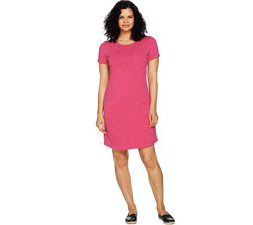 C. Wonder Essentials T-Shirt Dress withFront Pocket
