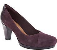 Clarks Artisan Leather Mid-Heel Pumps - Chorus Carol - A295116