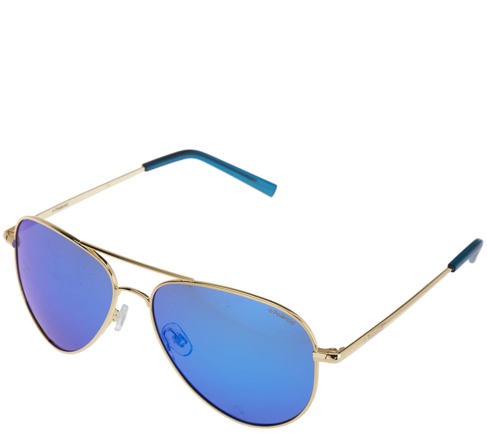 d2d11cd9c5 Polaroid Aviator Polarized Sunglasses with Case   Kit - Page 1 — QVC.com