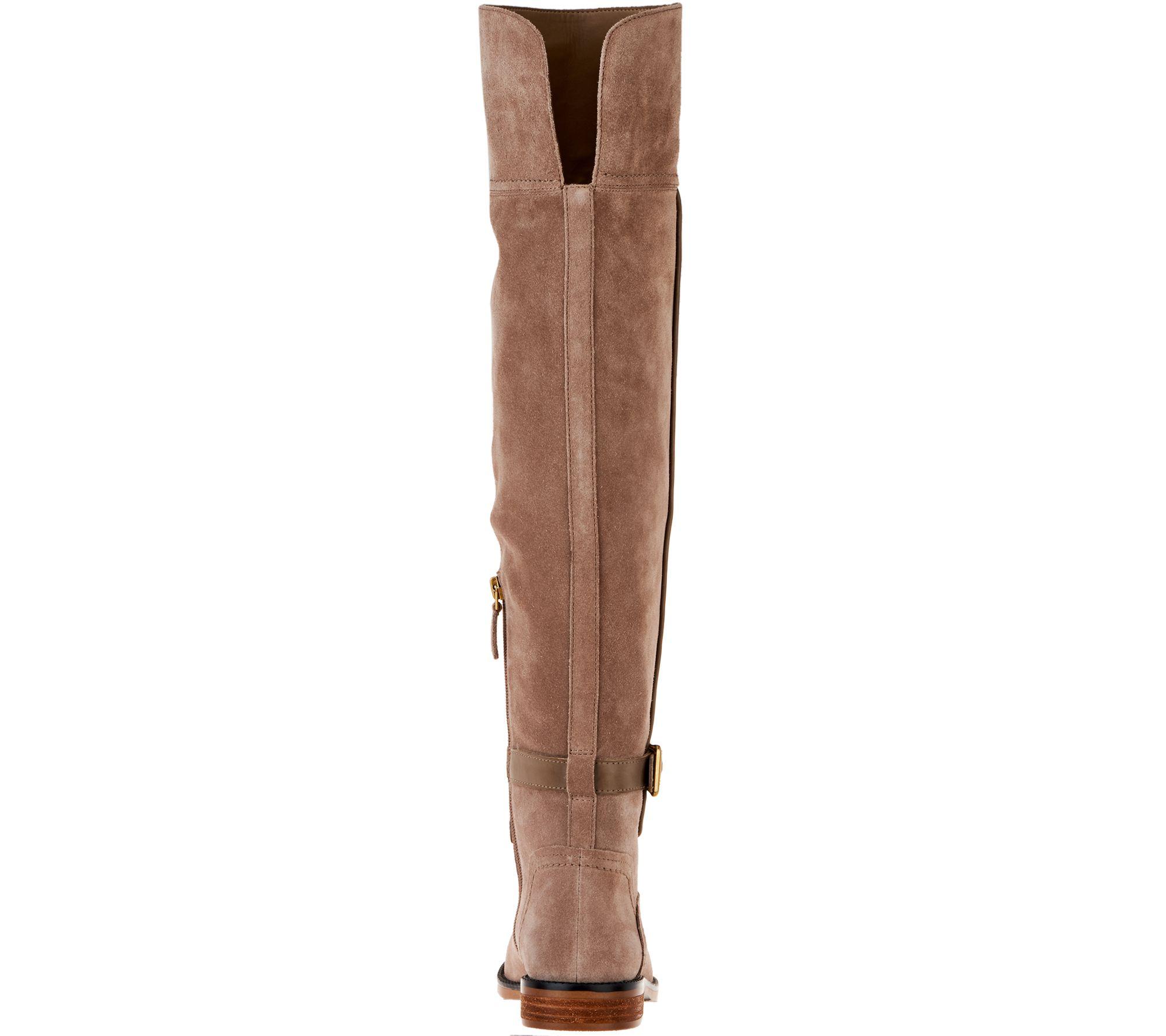 9445d583ccf Franco Sarto Wide Calf Suede Over-the-Knee Boots - Crimson - Page 1 —  QVC.com