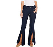 G.I.L.I. Regular Front Slit Wide Leg DenimJeans - A302116
