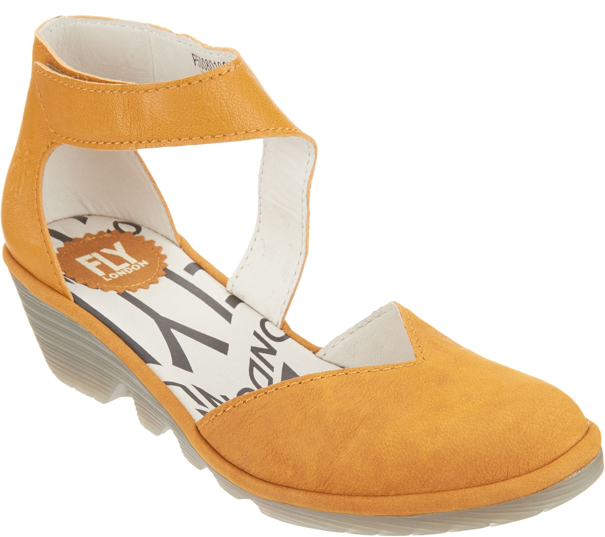 FLY London Leather Closed Toe Wedge - Pats discount best seller view cheap price lL8Ss