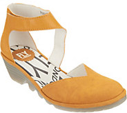 FLY London Leather Closed Toe Wedge - Pats - A303416