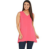 Belle by Kim Gravel Lounge Tunic Tank with Pockets - A307616