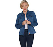 Martha Stewart Denim Button Front Jean Jacket - A309516