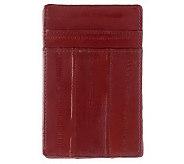 Lee Sands Mens Eelskin Credit Card Holder - A323916