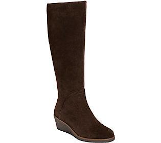 Aerosoles Wedge Knee High Suede Boots -